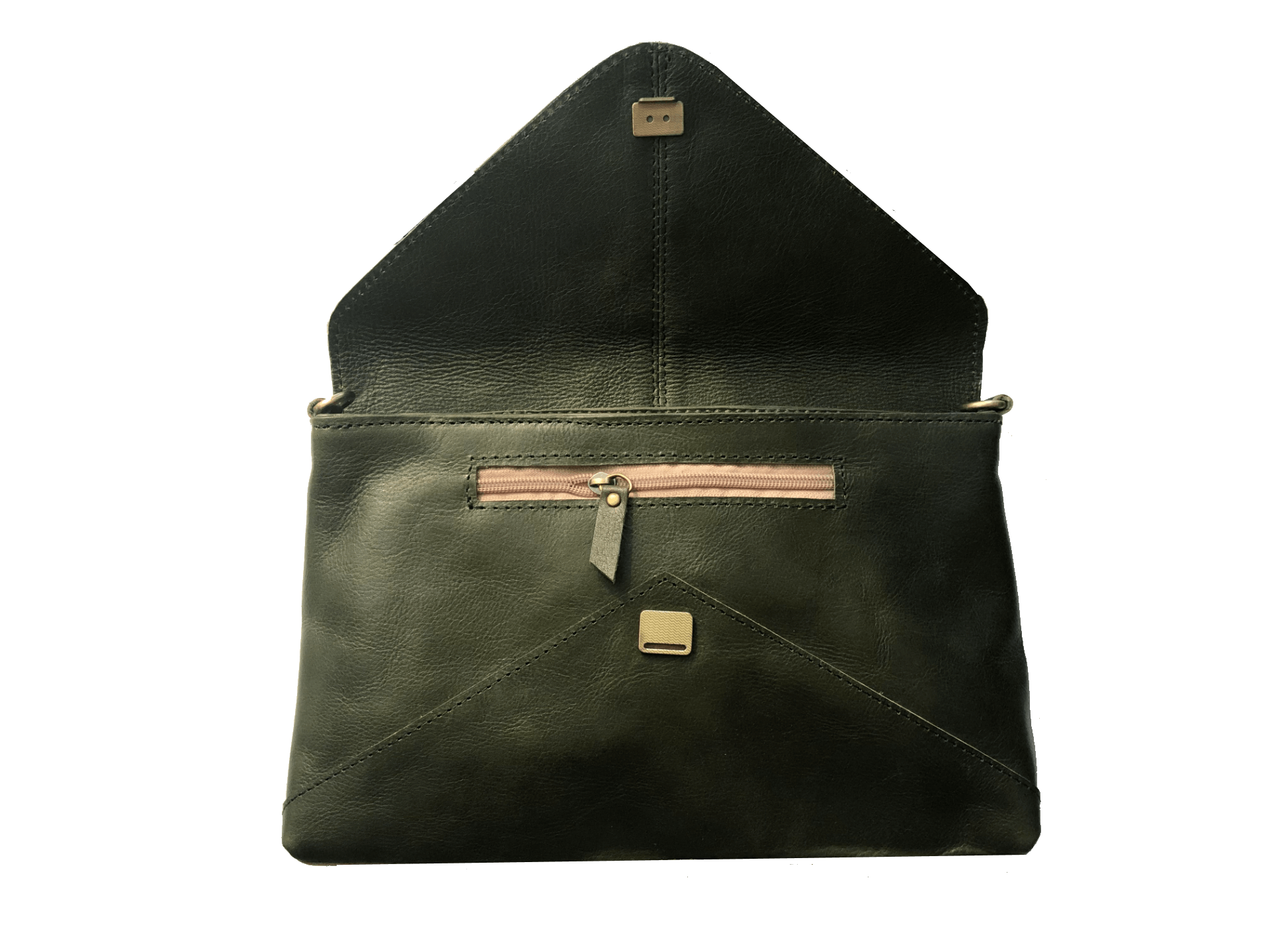Madrid Olive Envelope Pouch and Cross Body Bag