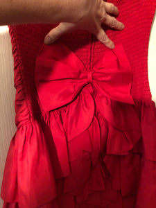 Red Ruffled Red Dress