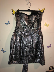 Metallic Strapless Mini Dress