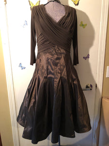 Elegant Chocolate Brown Designer Dress
