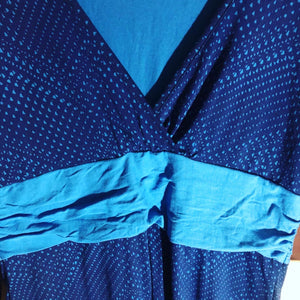 Patagonia Lg Jersey two tone blue loungewear dress