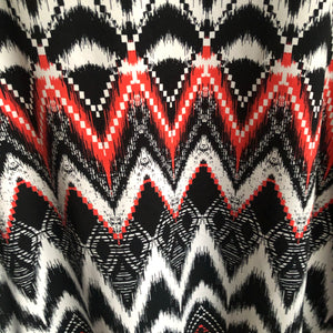 Faith and Joy Med Tribal Print Scoop Neck ling Sleeve Top