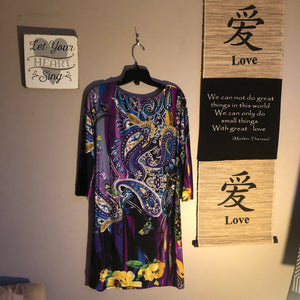 Papilion Med Purple and Black NWT Dress 👗