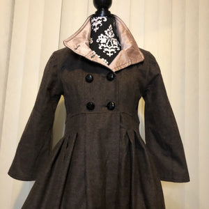 Unique Dress Coat with Tapered Waist