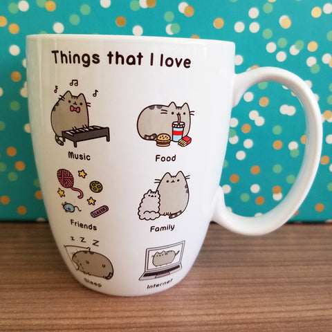 Pusheen mug, Things I Love