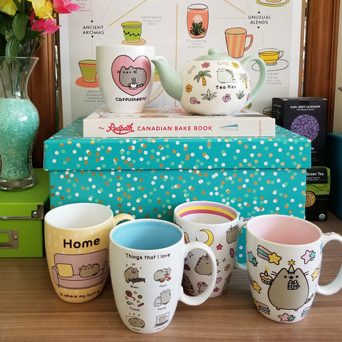 Pusheen mugs and teaware