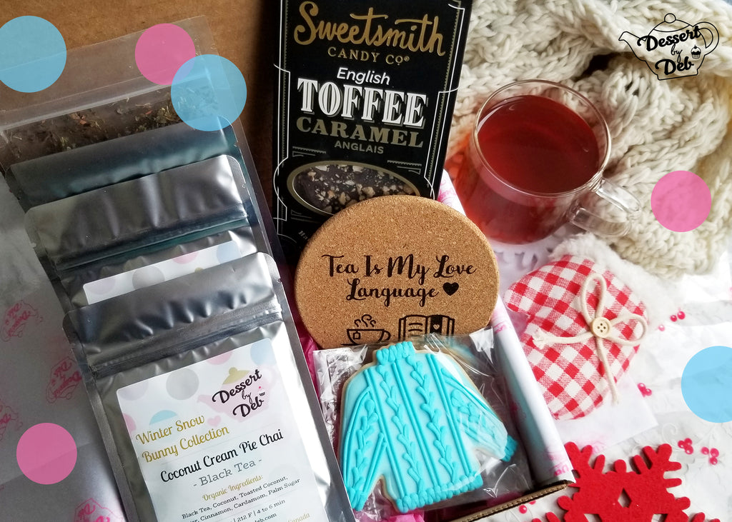 Snow Bunny Winter Tea & Sweets Subscription Box (Single Box)