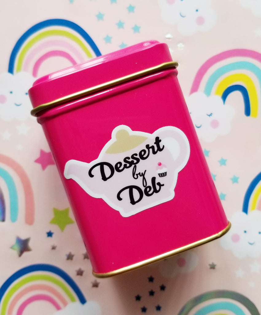 Dessert by Deb Pink Logo Tea Tin