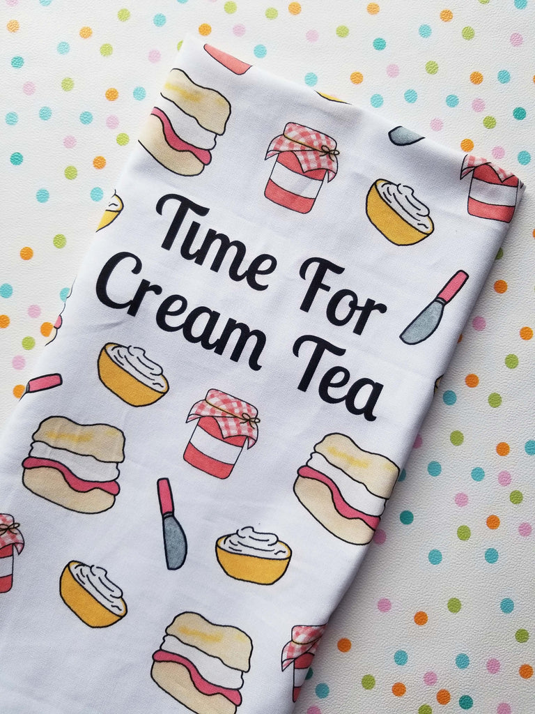 """Time For Cream Tea"" tea towel - Dessert by Deb"