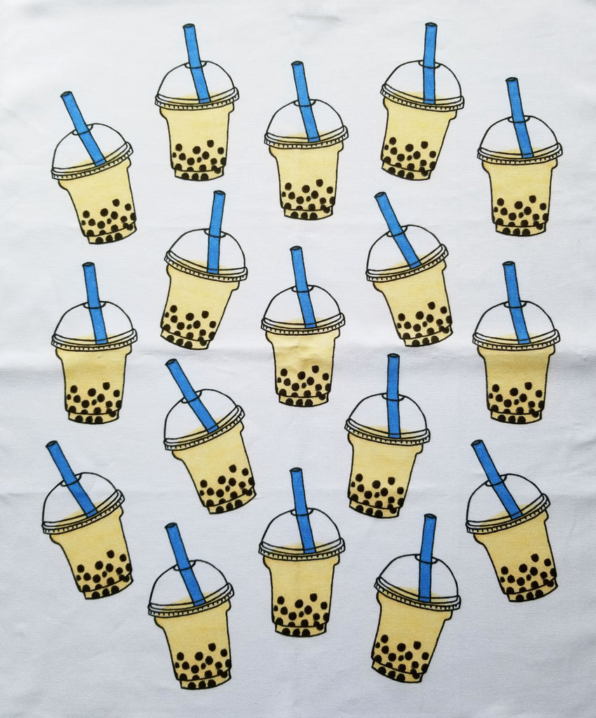 """Bubble Tea Lovers"" tea towel - Dessert by Deb"