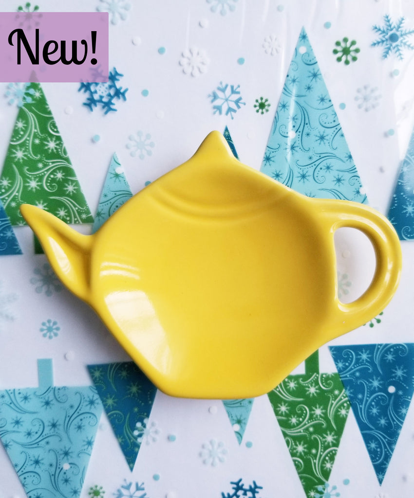 Lemon Yellow Teabag Holder Dish