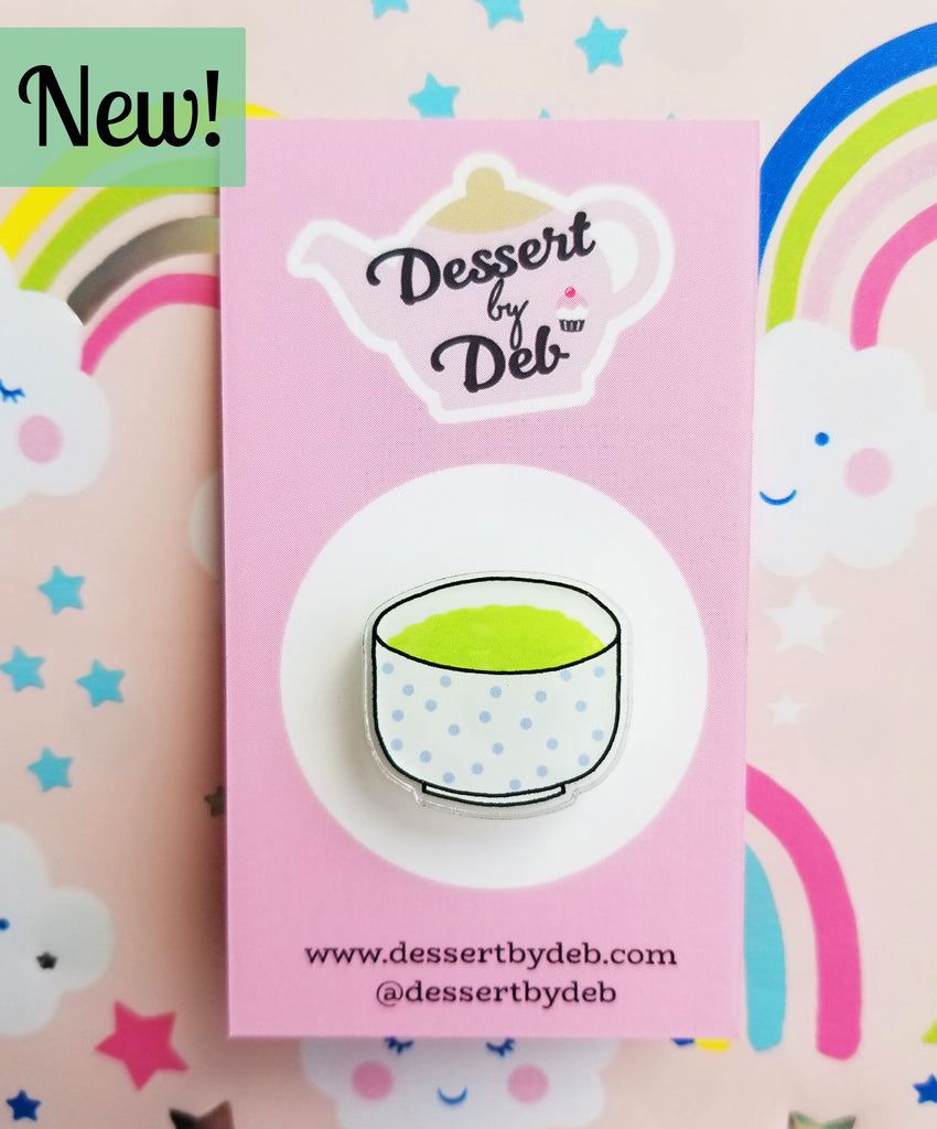 *NEW!* Tea Lovers Acrylic Tea Pin, Series 1 - Matcha Bowl