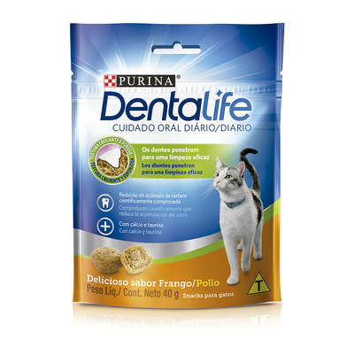 Petisco Nestlé Purina DentaLife para Gatos - 40g