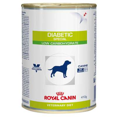 Ração Royal Canin Lata Canine Veterinary Diet Diabetic Especial Low Carbohidrat Wet - 410 g