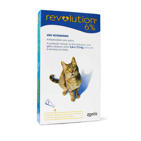 Antipulgas e Carrapatos Zoetis Revolution 6% para Gatos