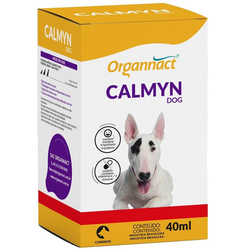 Suplemento Organnact Calmyn Dog - 40ml