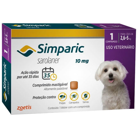 SIMPARIC 10MG 2,6-5KG C/ 1 COMP