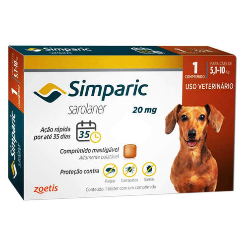 SIMPARIC 20MG 5-10kg C/ 1 COMP