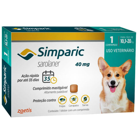 SIMPARIC 40MG 10,1-20kg C/ 1 COMP