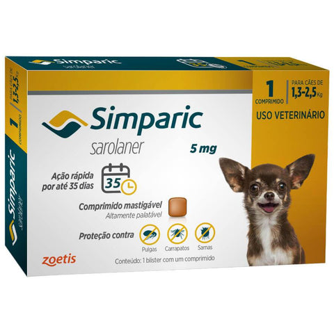 SIMPARIC 5MG 1,3-2,5 KG C/ 1 COMP.