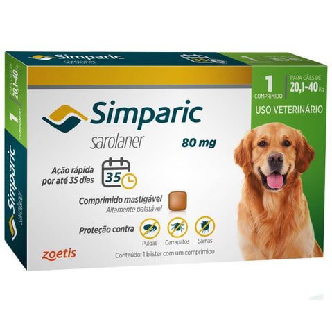 SIMPARIC 80MG 20,1-40kg C/ 1 COMP