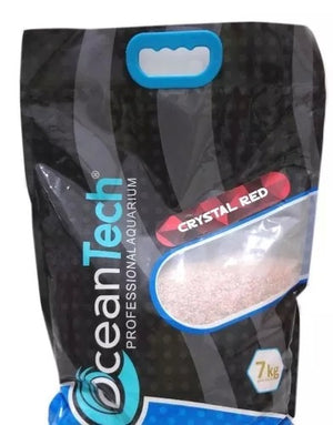 Substrato Crystal Red Inert Ocean Tech P/ Aquário - 7Kg