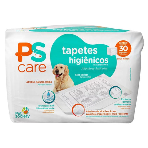 Tapete Higiênico Pet Society Ps Care - 30 Unidades