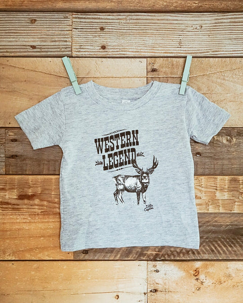 """Western Legend"" Infant Graphic Tee in Heather"