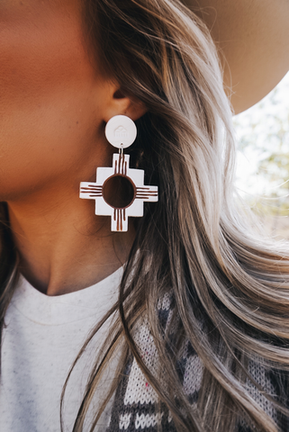 """Danza del Sol"" Clay Earrings"