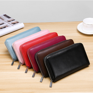 70% OFF RFID Antimagnetic Genuine Leather 36 Card Slots 6 inches Phone Bag Long Wallet