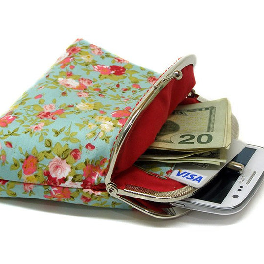 Floral Double Pockets Wallet