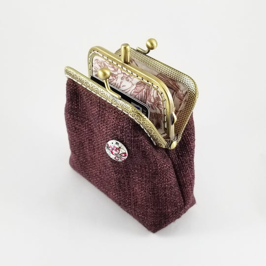Wine Double Pockets Coin Purse