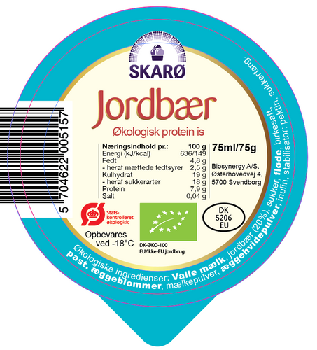 Protein Jordbæris - 75 ml.
