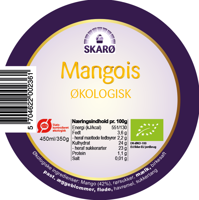 Mango is - 450 ml.