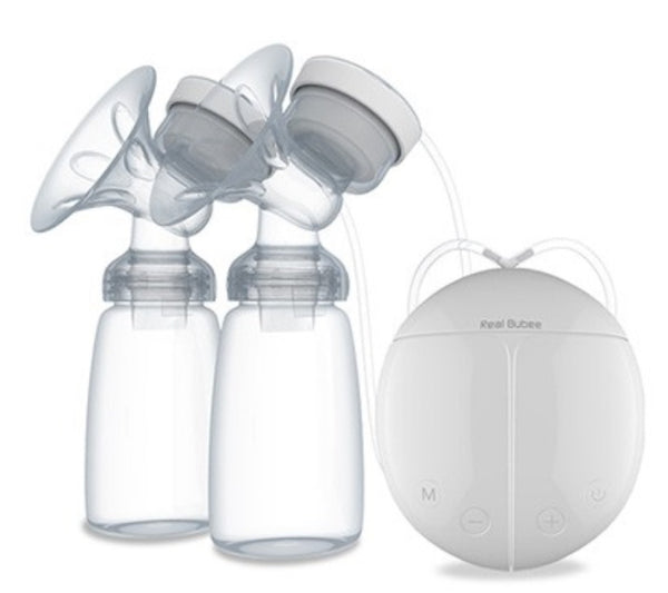 REAL BUBEE Electric Dual Breast Pump + FREE Milk Storage Bags