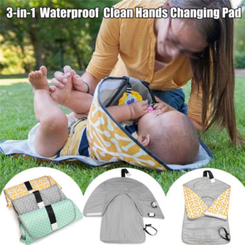 Clean Hands Changing Mat Clutches (waterproof)