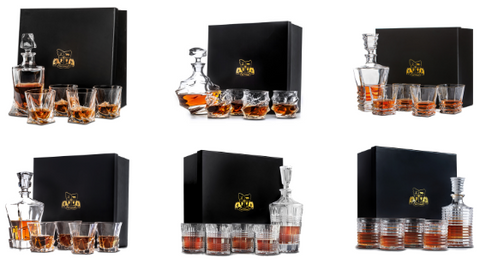 Van Daemon Whisky Decanter Glasses Sets Perfect Gift