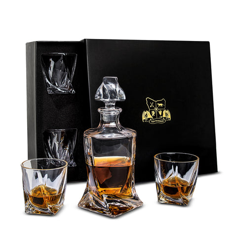 Tasman Twist Decanter Set Looks Good Gift Box