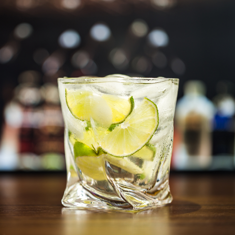 Tasman Twist Twisted Glass Whiskey Gin Tonic Lime