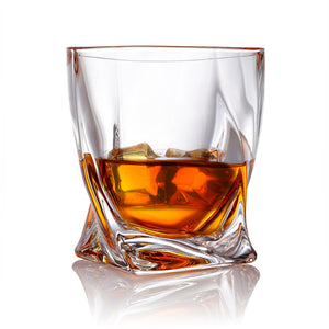 Van Daemon - 'Tasman Twist' Whiskey Glasses - Lead Free Crystal. Set of 2 Tumblers for Liquor.