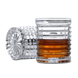 Whisky Decanter (750ml) and Set of 4 Glasses (300ml). 'Richmond' Lead Free Crystal by Van Daemon for Spirits.
