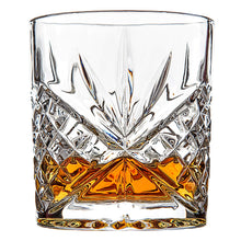 Load image into Gallery viewer, Van Daemon - 'Star of Salamanca' Whiskey Glasses - Lead Free Crystal. Set of 2 Tumblers for Liquor.