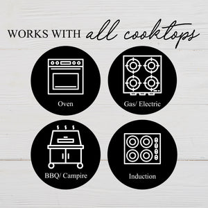Works with all cooktops