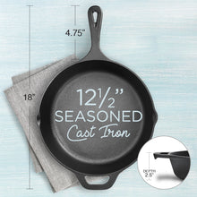 Load image into Gallery viewer, Cast Iron skillet 12 Inch Pre-Seasoned | Fresh Australian Kitchen