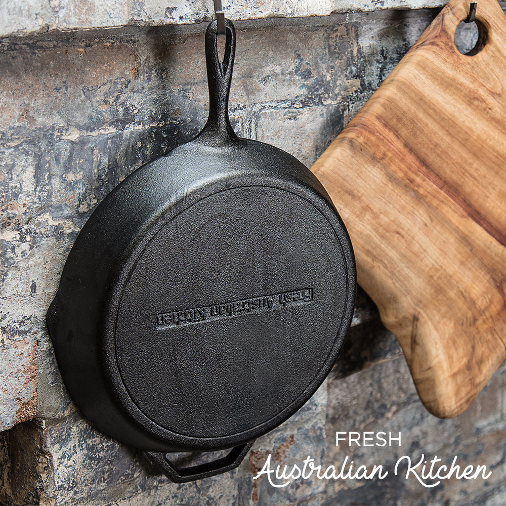 Cast Iron Skillet Frying Pan 30cm 12 Inch The Fresh