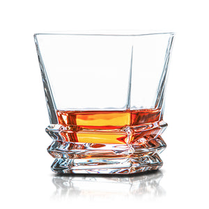 Van Daemon - 'Hobart' Whiskey Glasses - Lead Free Crystal. Set of 2 Tumblers for Liquor.