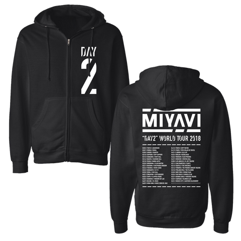 BLACK DAY 2 ZIP UP HOODIE - MIYAVI