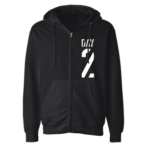 BLACK DAY 2 ZIP UP HOODIE