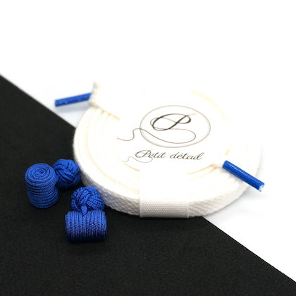 Set city Blanc & Bleu - Lacets Made in France - Petit-détail.com