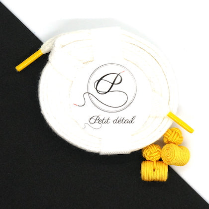Set city Blanc & Jaune - Lacets Made in France - Petit-détail.com
